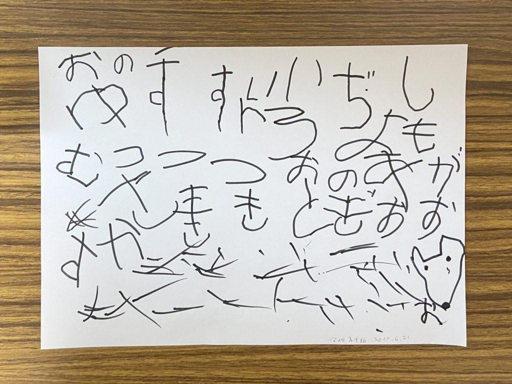 子どもの書いた、父の日の手紙。