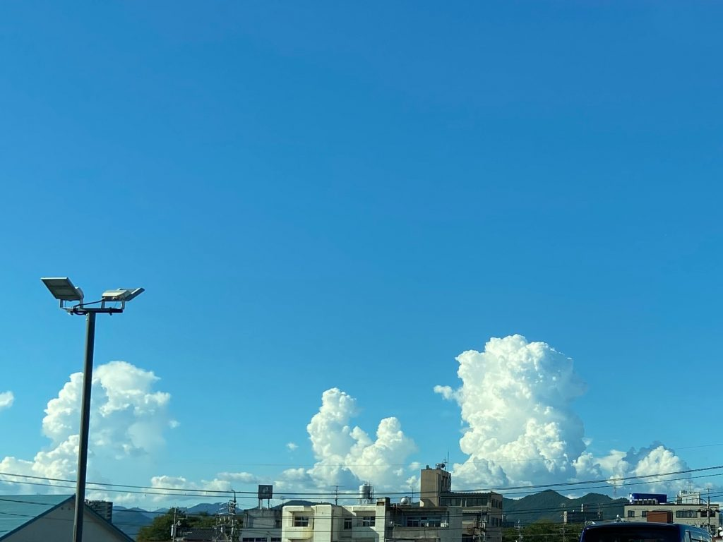 9月のある日の空